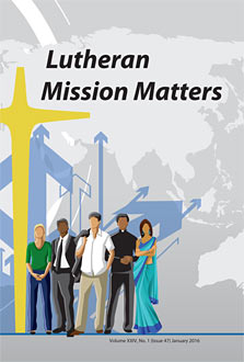 Lutheran Mission Matters cover
